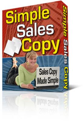 Product picture Simple Sales Copy Program